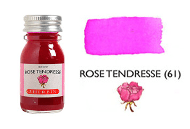 Tinta caligráfica, frasco de 10 ml. rose tendresse