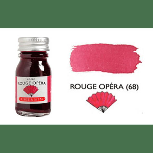 Tinta caligráfica, frasco de 10 ml. rouge opéra