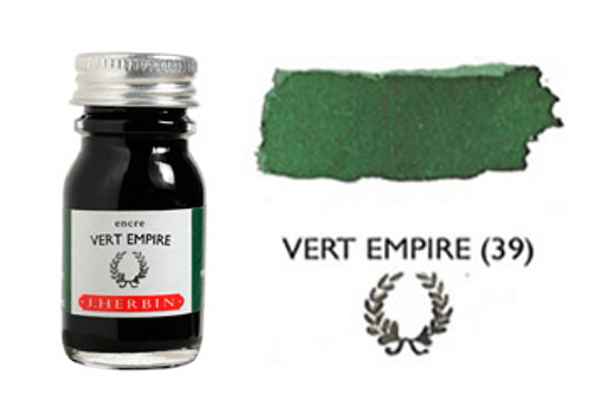 Tinta caligráfica, frasco de 10 ml. vert empire