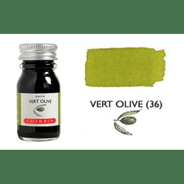 Tinta caligráfica, frasco de 10 ml. vert olive