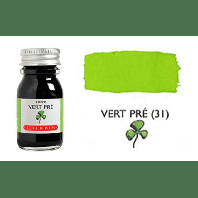Tinta caligráfica, frasco de 10 ml. vert pré