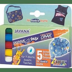Marcador para Telas Oscuras - Wax Opak - Set de 5 marcadores