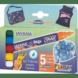 Marcador para Telas - Wax Opak - Set de 5 marcadores