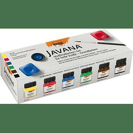 Pintura translúcida para tela - Set 6 colores básicos - 20 ml