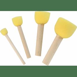 Juego 4 Cepillos de esponja para plantillas
