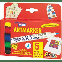 Set de 5 Rotuladores para tejidos ligeros - Javana ArtMarker