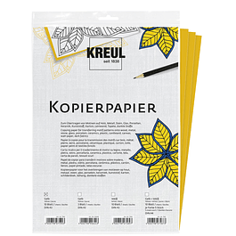 Kreul Papél Transfer - Color Amarillo (10 hojas A3)