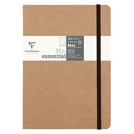Cuaderno de costura de puntos Clairefontaine, 21 x 15 x 1,4 cm, tabaco