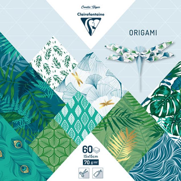 ORIGAMI pack 60S 15x15cm - Vegetal