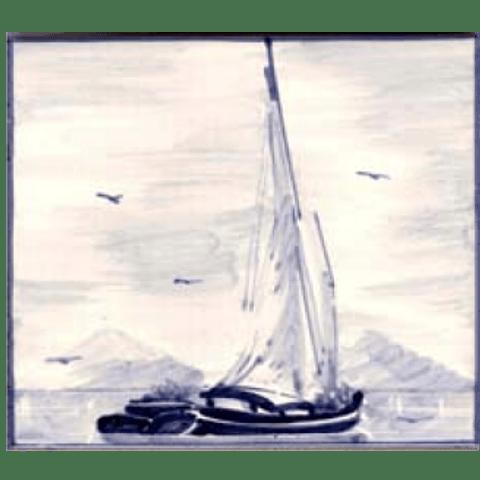 Blue Tagus barge
