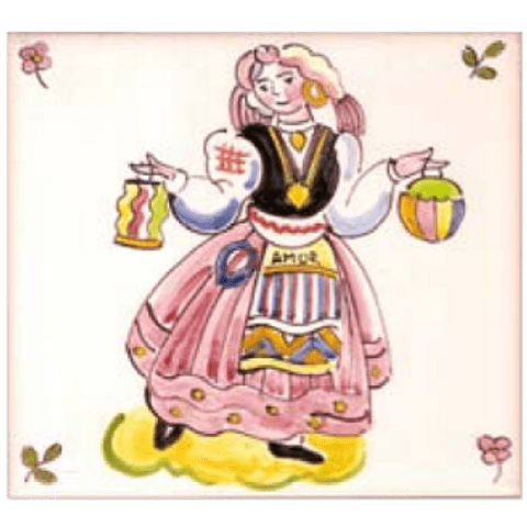 Traditional costumes individual tile 12 ANB