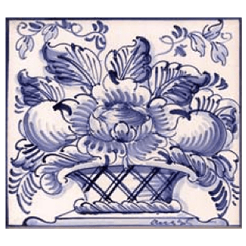 Flower basket #3 - Blue - ANB