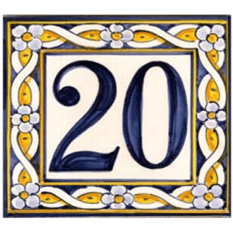 Tile with number