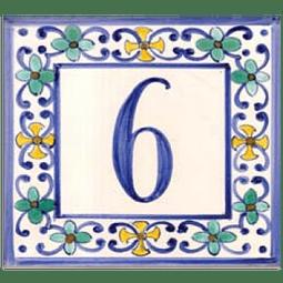 Azulejo com número