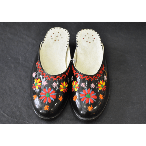 Hand embroidered traditional costume shoes