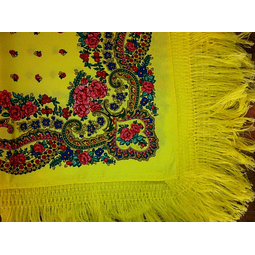 Meadela Scarf with fringe in Yellow