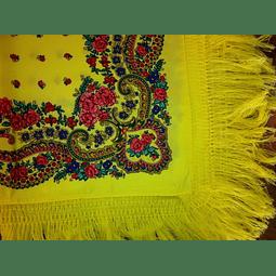 Lenço Meadela com franja (Amarelo)