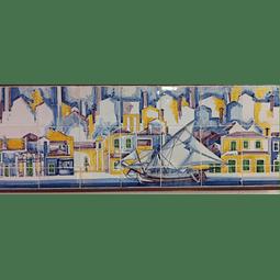 Painel 15 azulejos aguarela