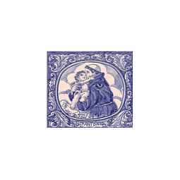 Azulejo Santo António azul 1 - TQ