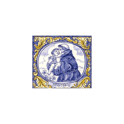 Azulejo Santo António azul 3 - TQ
