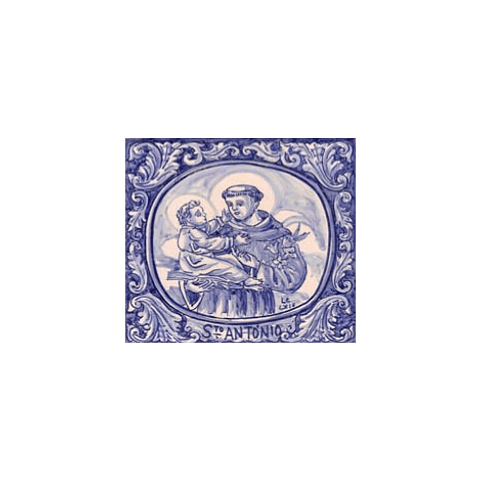 Azulejo Santo António azul 5 - TQ
