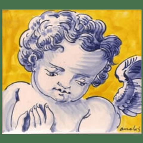 Azulejo Individual Anjo 7 ANB
