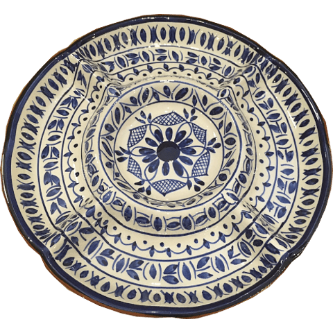 Large appetizer plate in blue