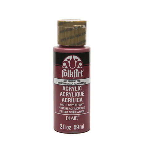 4669 FolkArt ® Acrylic Colors - Imperial Red, 2 oz