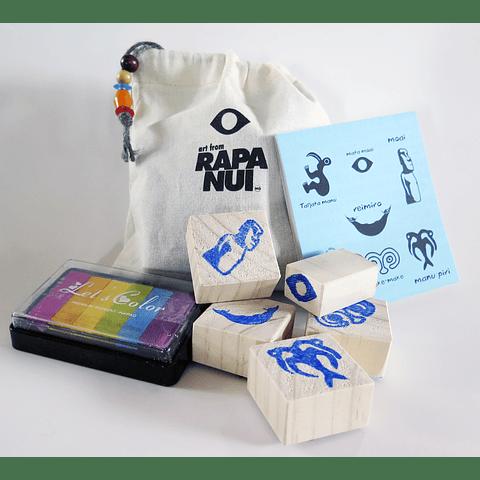 Set timbres de goma para niñ@s