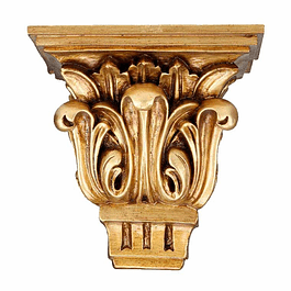 Peanha em madeira dourada