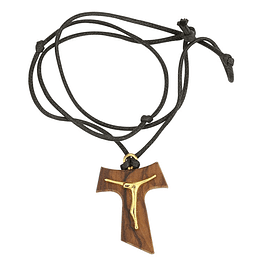 Fio de cruz de Tau com cristo