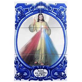 Azulejo Jesus Misericordioso 6 peças