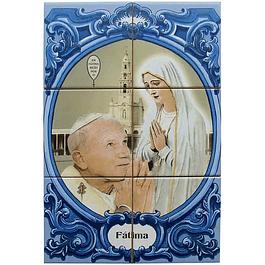 Azulejo Papa João Paulo II 6 peças