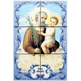 Azulejo de São José 6 peças