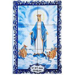 Azulejo Nª Senhora das Graças 6 peças