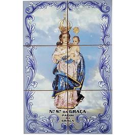 Azulejo Nª Senhora da Graça 6 peças