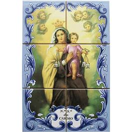 Azulejo de Nª Senhora do Carmo 6 peças