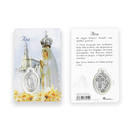 Cartão católico com nome