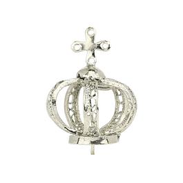 Coroa de metal prateado