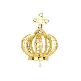 Coroa de metal dourado