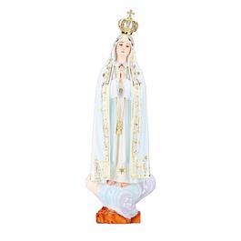 Nossa Senhora de Fátima Capelinha - madeira 40 cm