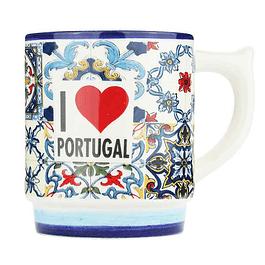 Caneca com azulejo de Portugal