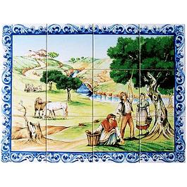 Azulejo Apanha das Azeitonas 12 peças