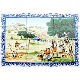 Azulejo Apanha das Azeitonas 24 peças