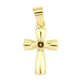 Pingente de Cruz dourado