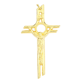 Pingente de Cristo na Cruz dourado
