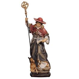 Estátua São Leonardo com cavalo - madeira