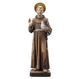 Estátua de São Francisco - madeira