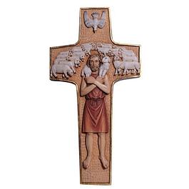 Cruz Papa Francisco - madeira