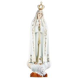 Nossa Senhora de Fátima - madeira 60 cm